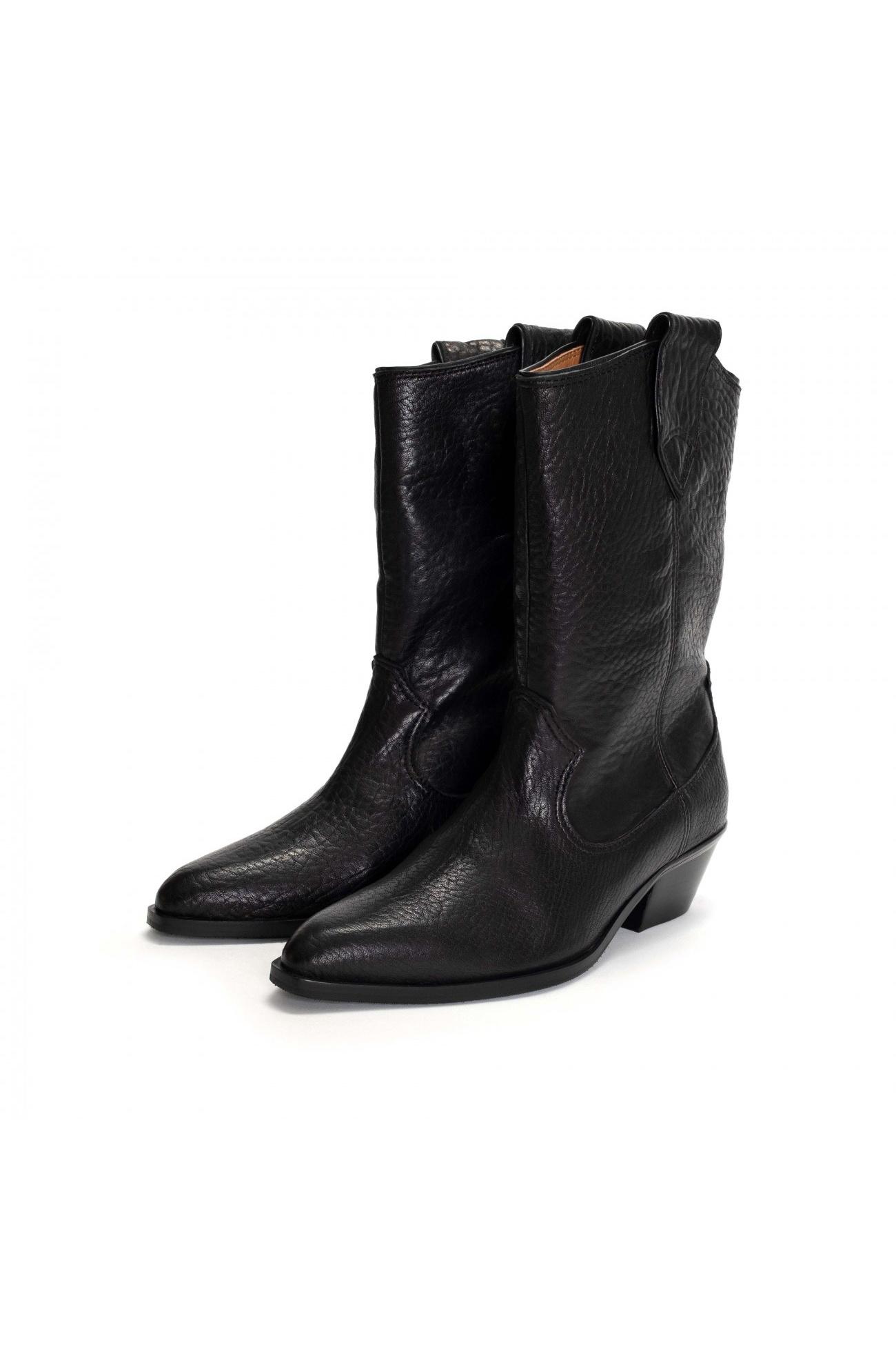 Saseline 35 Heavy Grain Calf Boot - Black-2