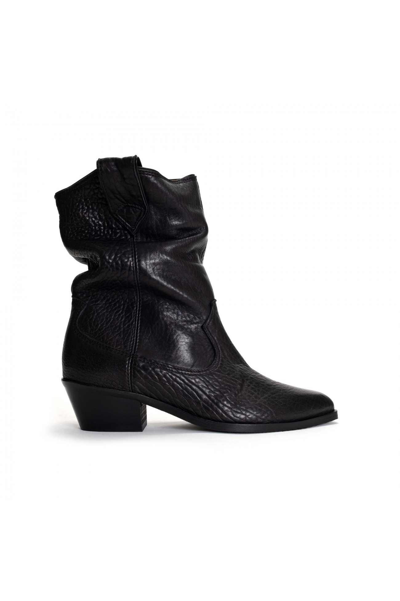 Saseline 35 Heavy Grain Calf Boot - Black-1
