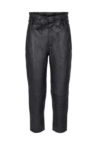 Phoebe Leather Pant - Black
