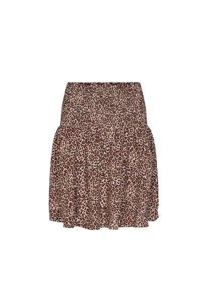 Mini Leo Smock Skirt - Khaki