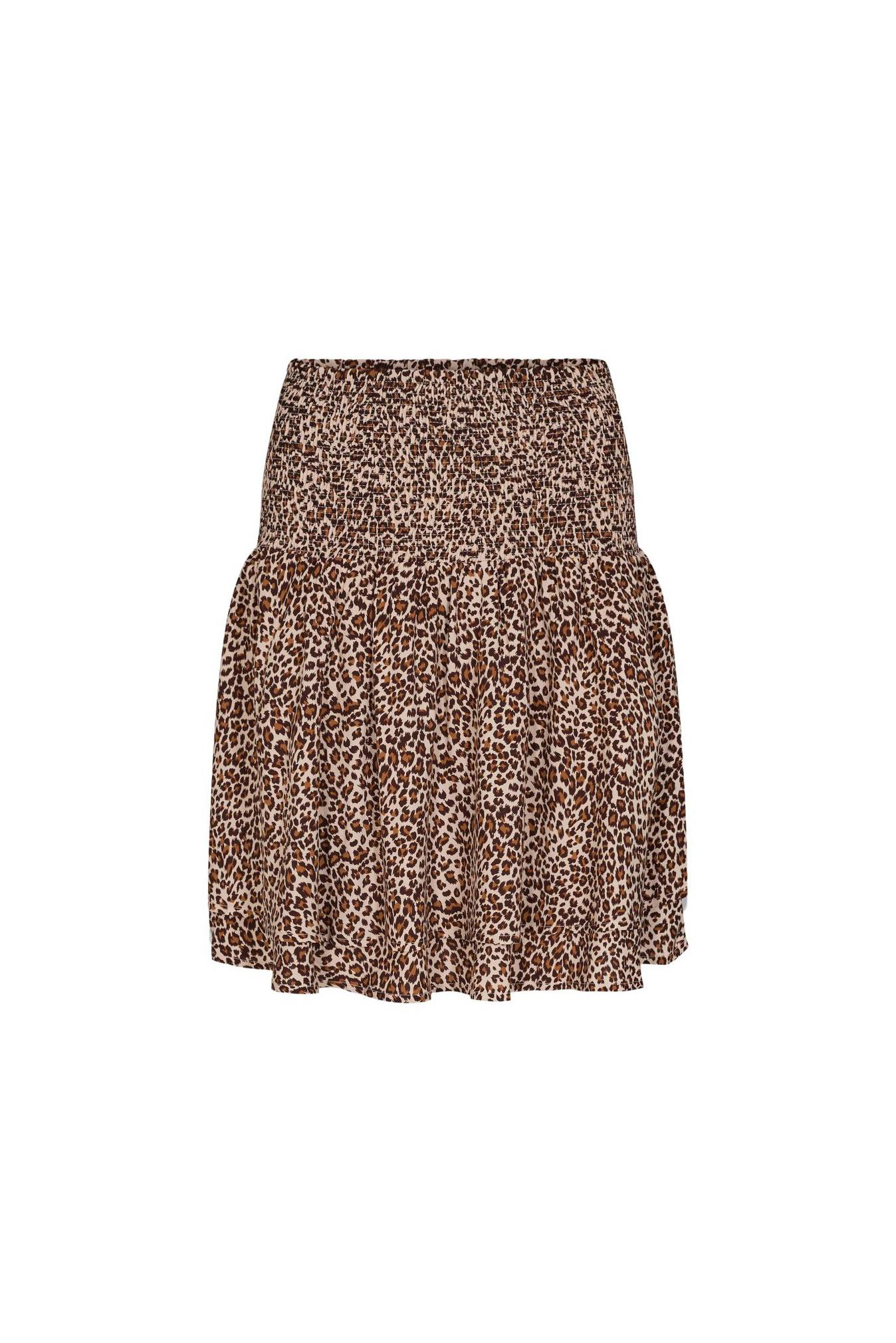 Mini Leo Smock Skirt - Khaki-1