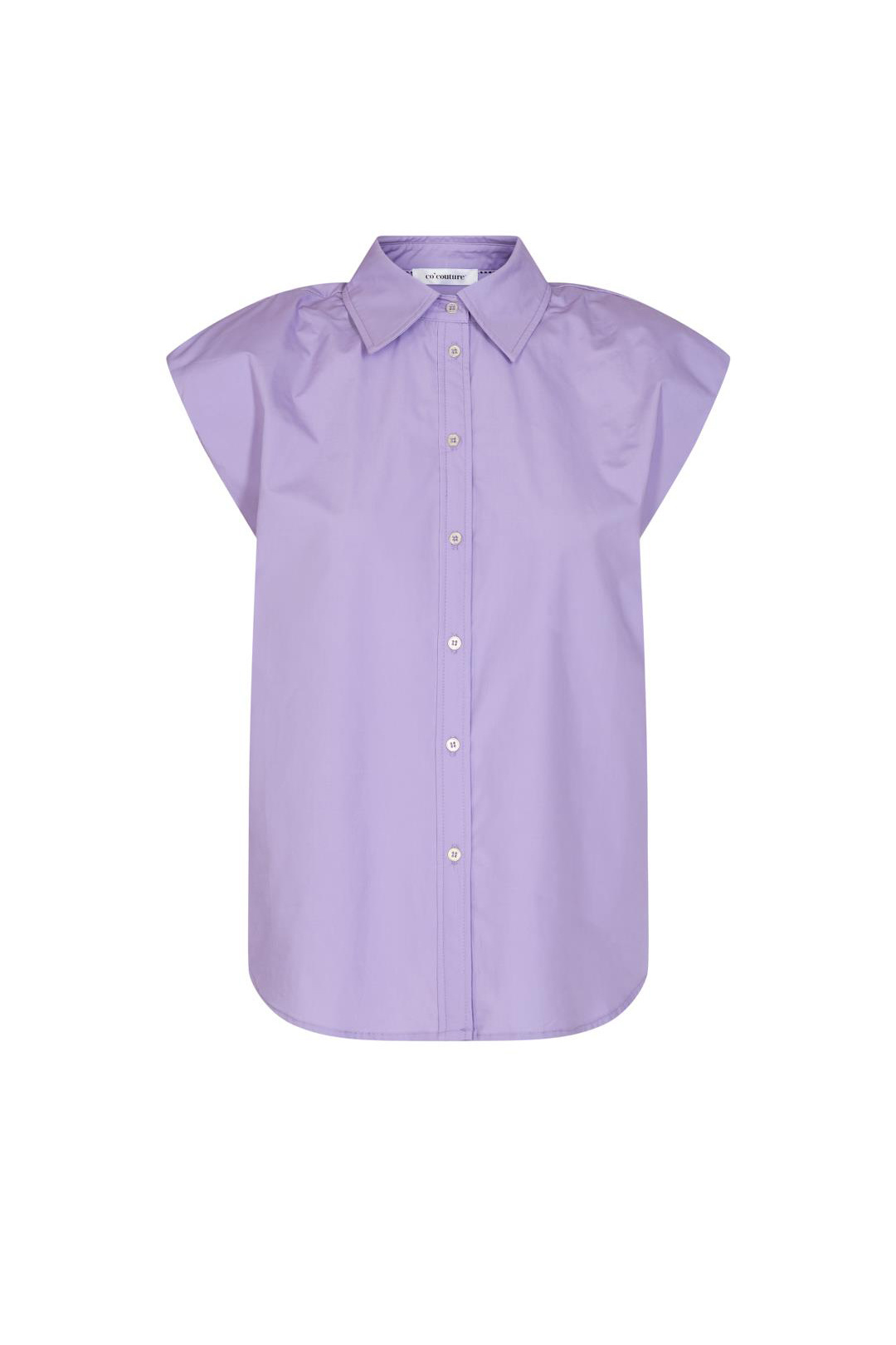 Yates Boxy Shoulder Shirt - Purple-1