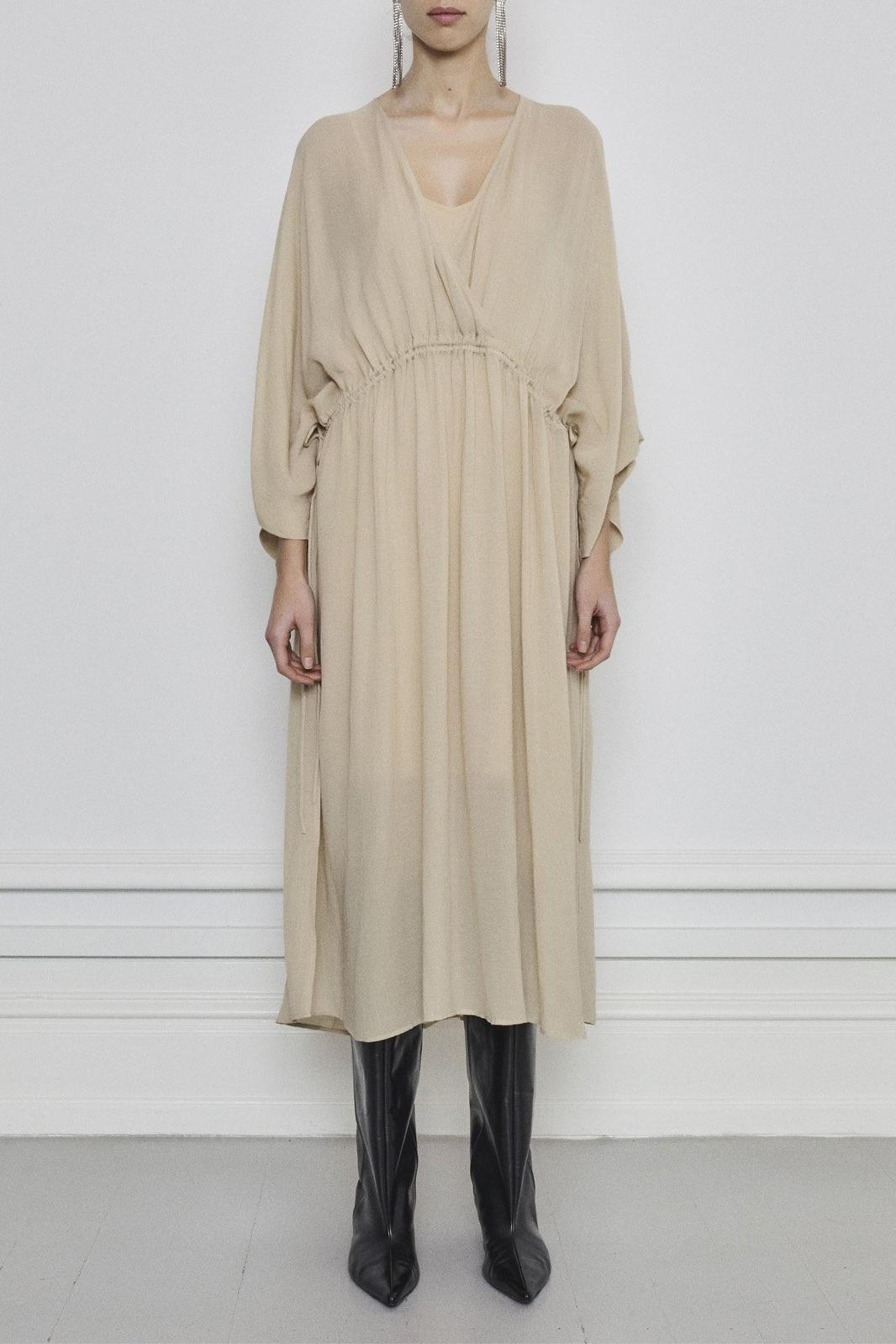 Tamia Dress - Beige-2