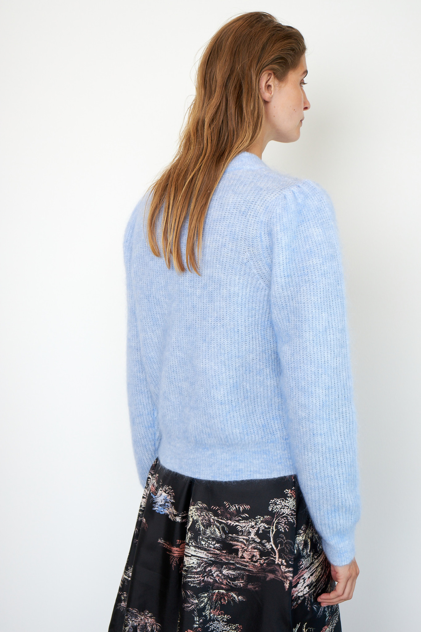 Brooky Knit Puff O-Neck - Brunnera Blue-5