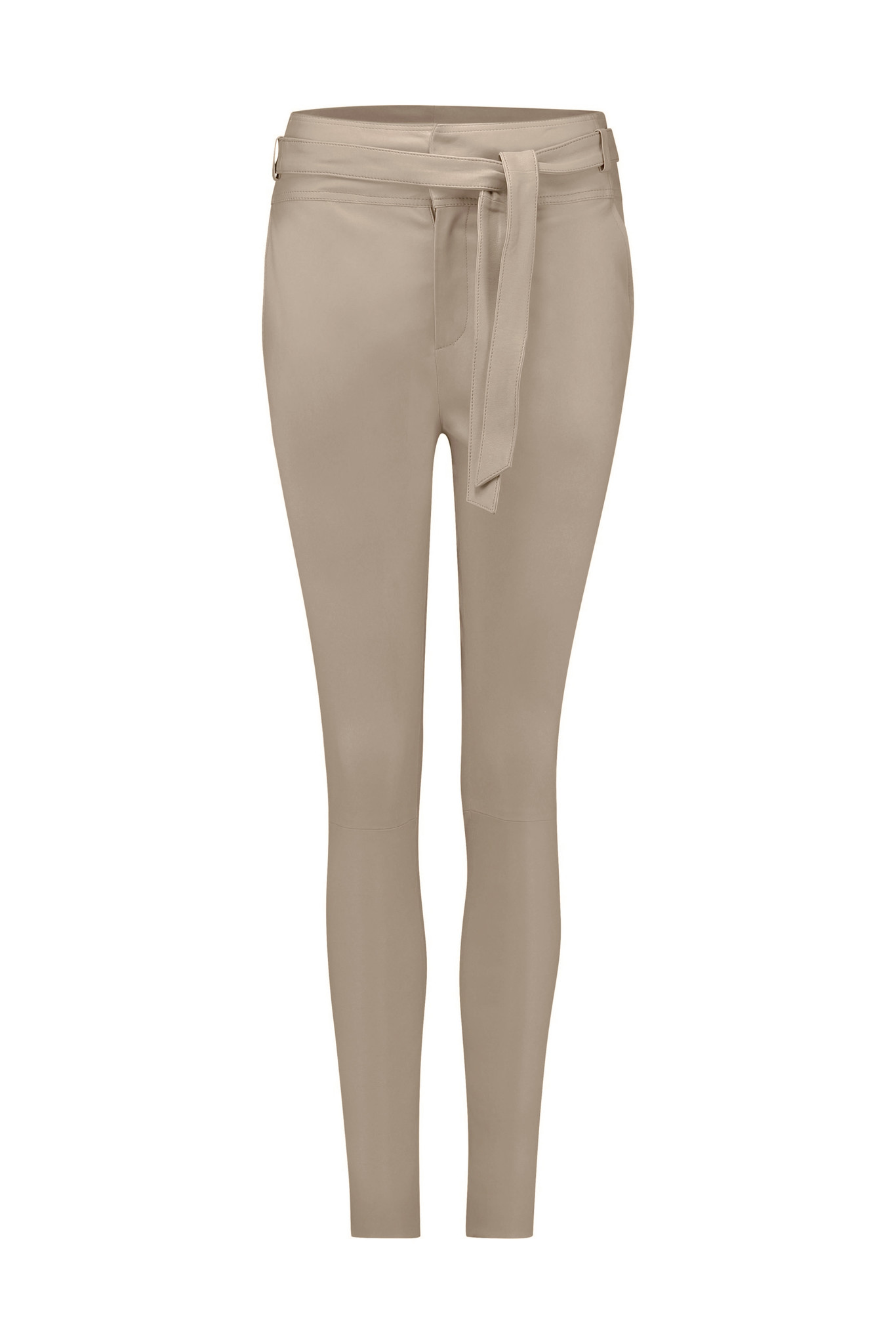 Ann Leather Pant - Pearl-1