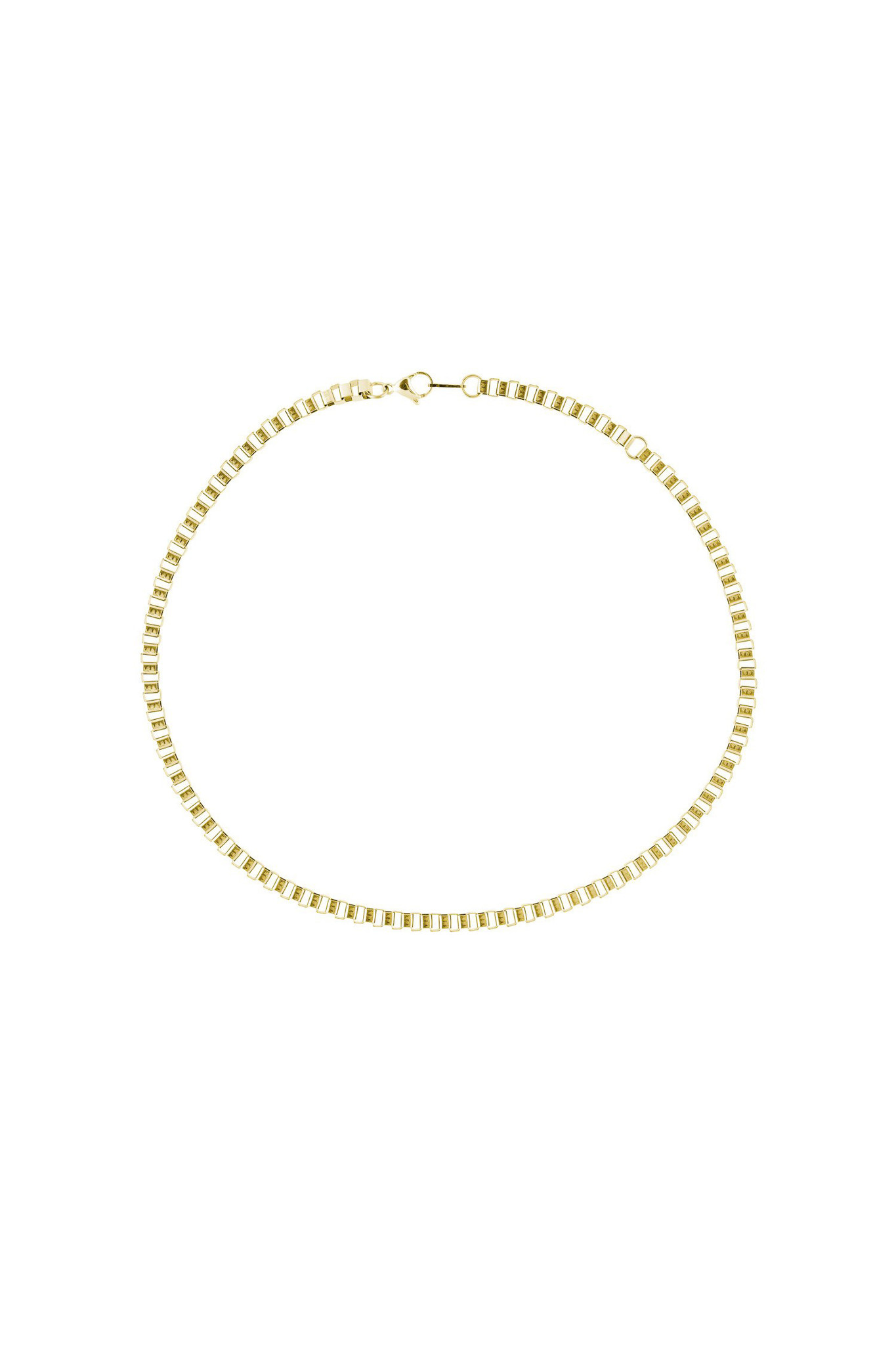 Box Chain Necklace - Gold-4