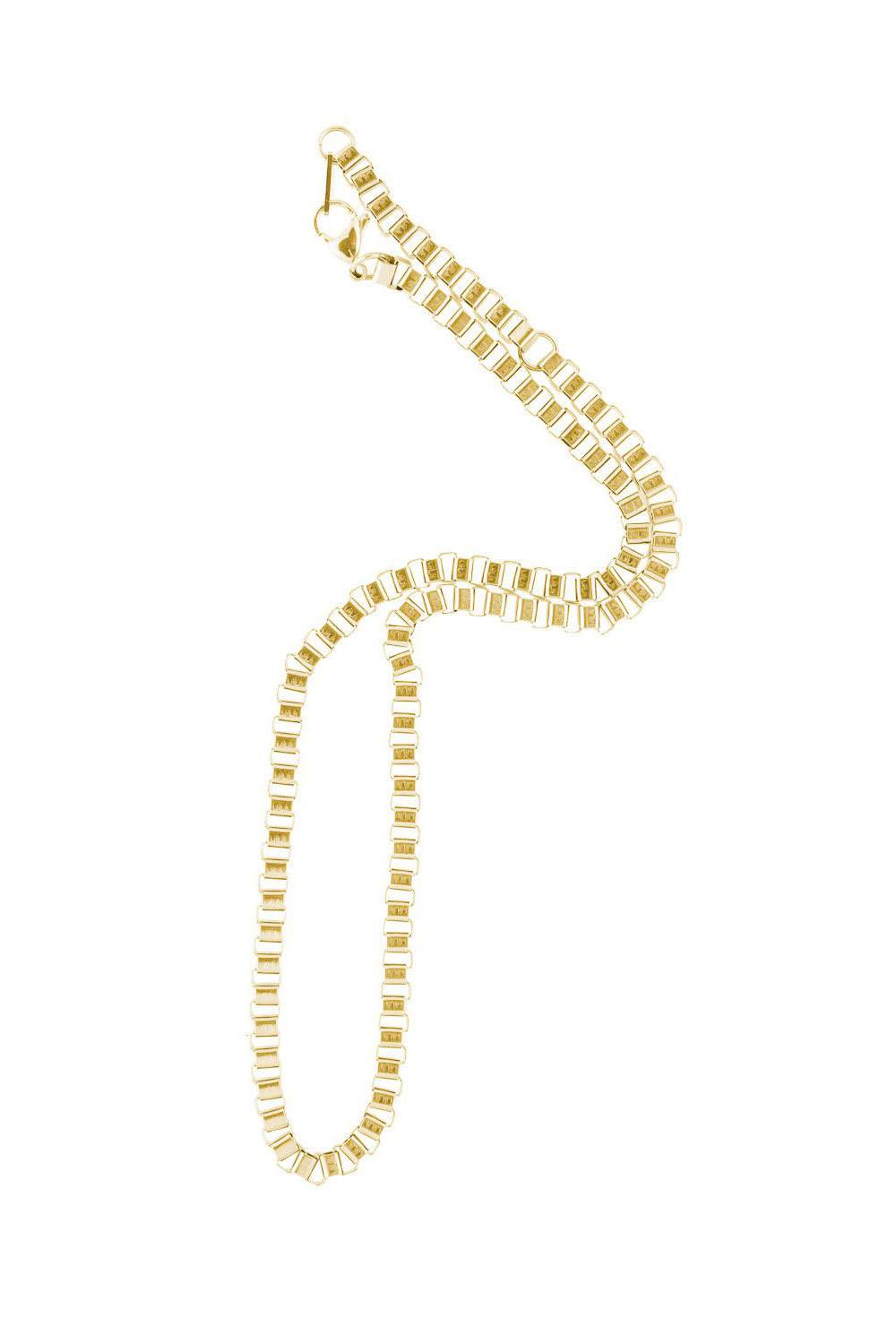 Box Chain Necklace - Gold-1