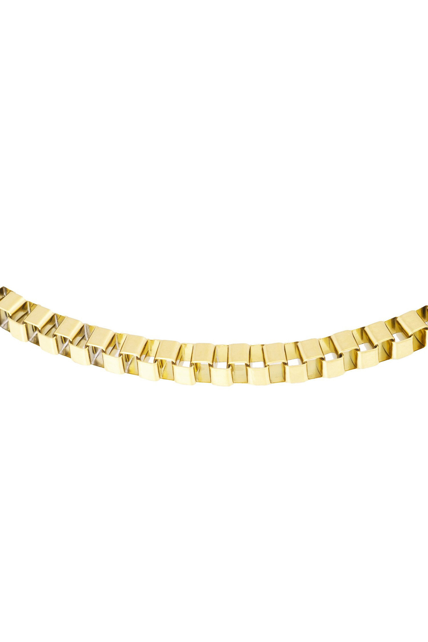 Box Chain Necklace - Gold-3