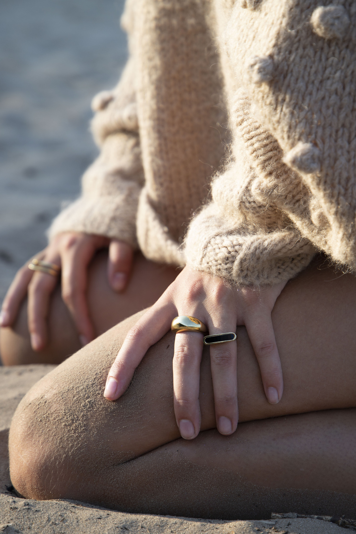 Energy Muse Ring - Gold with Black Onyx-5