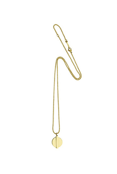 Minimal Coin Necklace - Gold