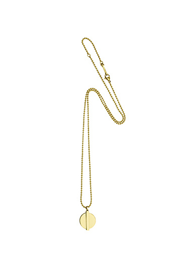 Minimal Coin Necklace - Gold-1