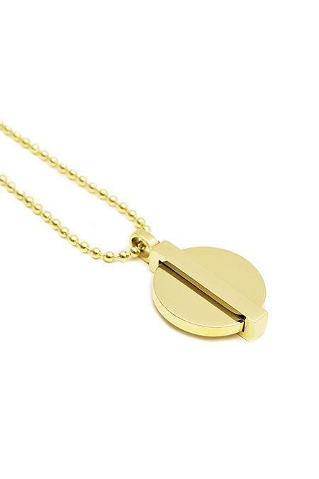 Minimal Coin Necklace - Gold-2