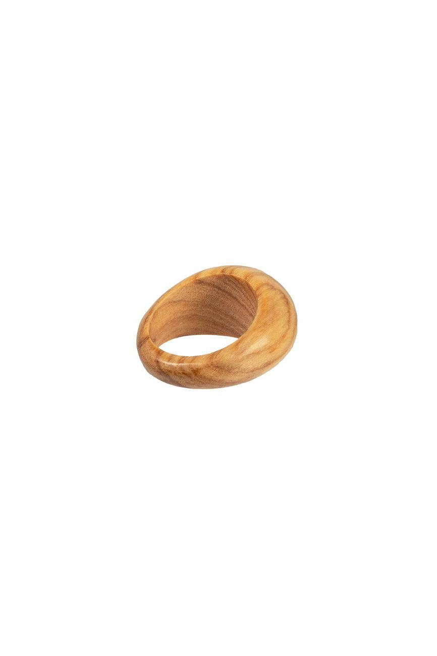 Kilima Ring - Olive Wood-3