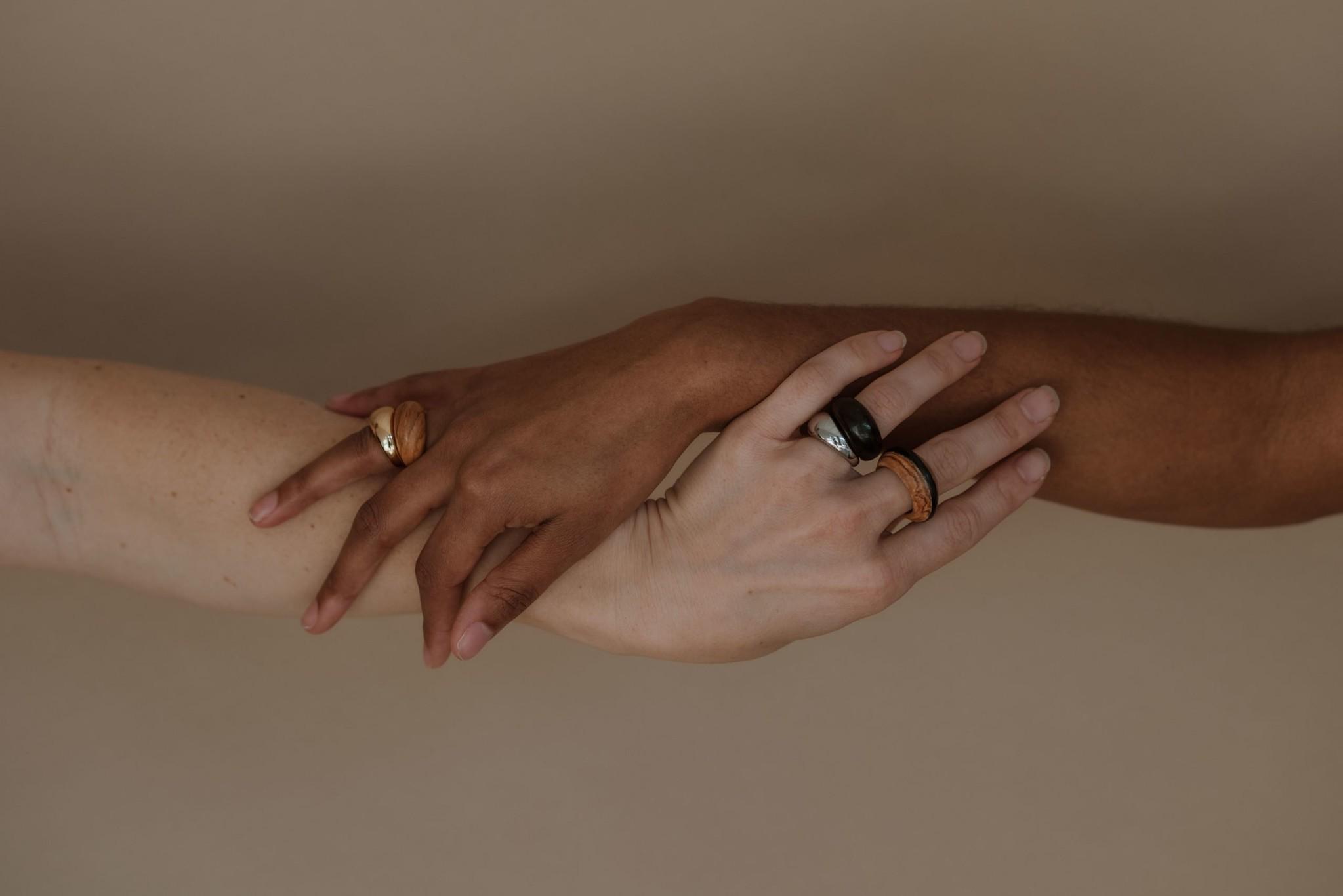 Kilima Ring - Ebony Wood-6