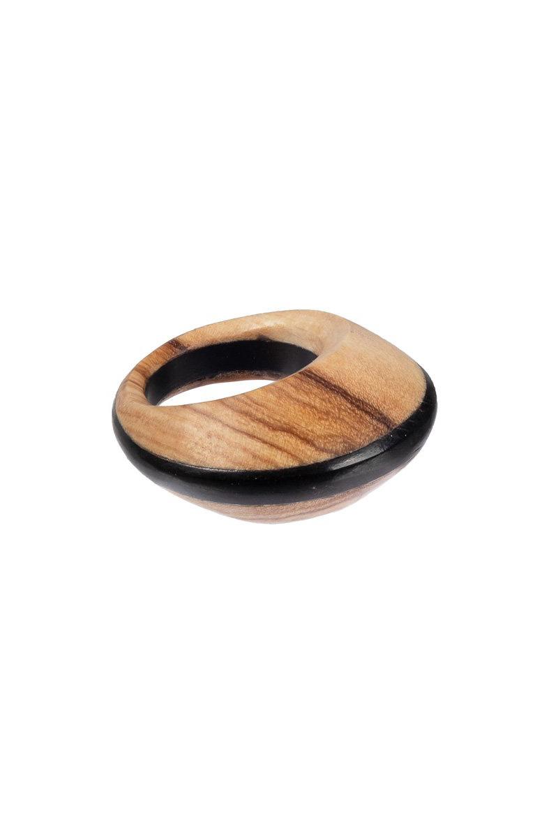 Pamoja Ring - Olive and Ebony Wood-1