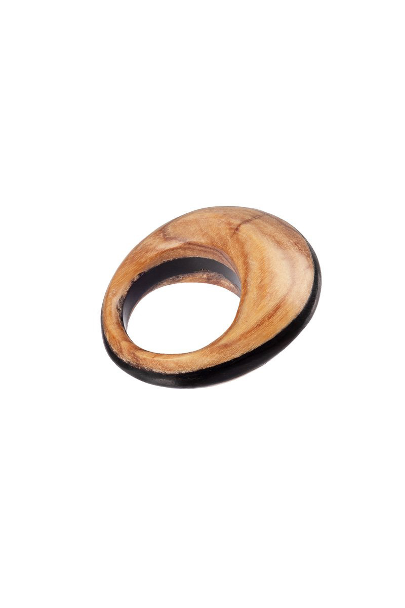 Pamoja Ring - Olive and Ebony Wood-4