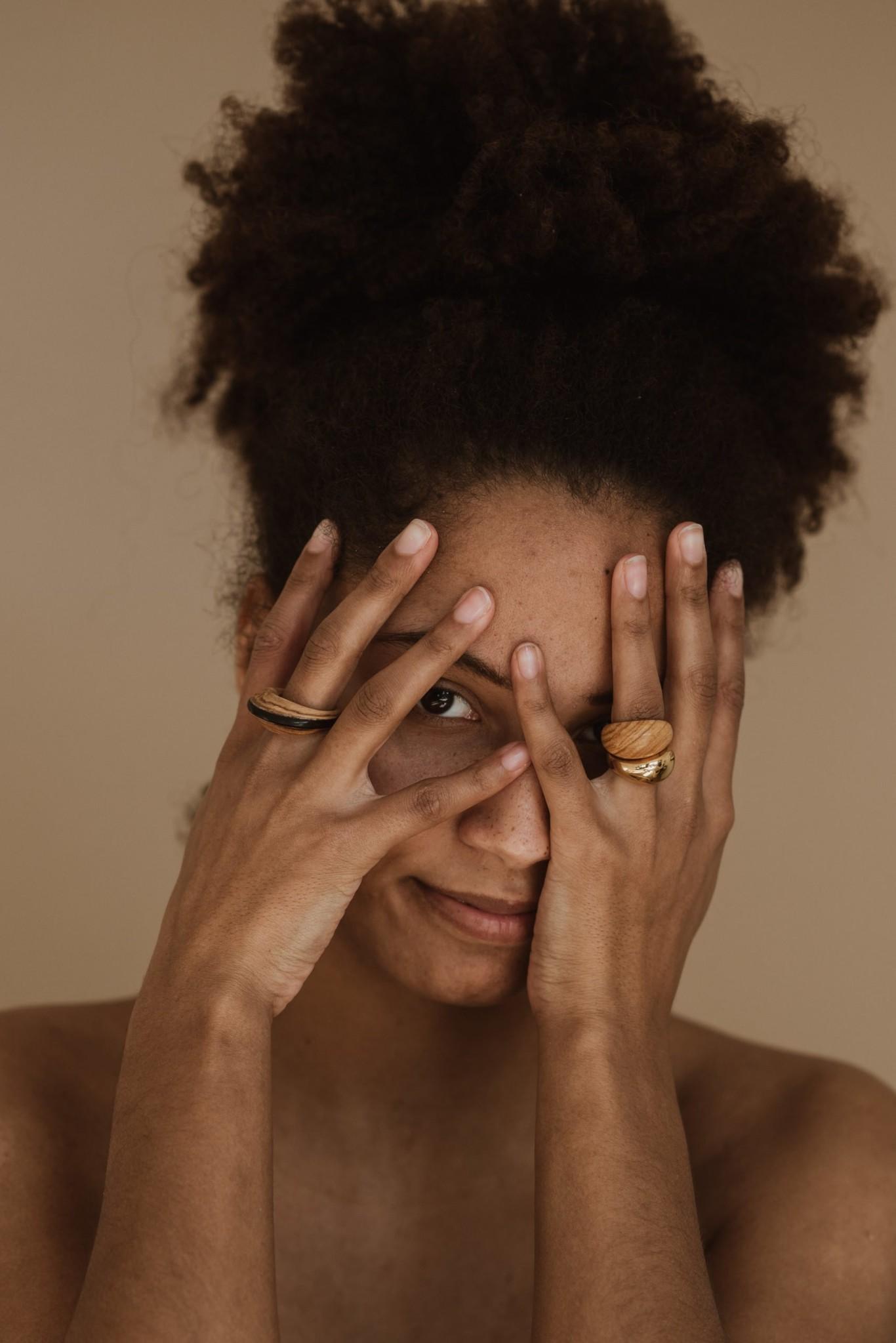 Pamoja Ring - Olive and Ebony Wood-6