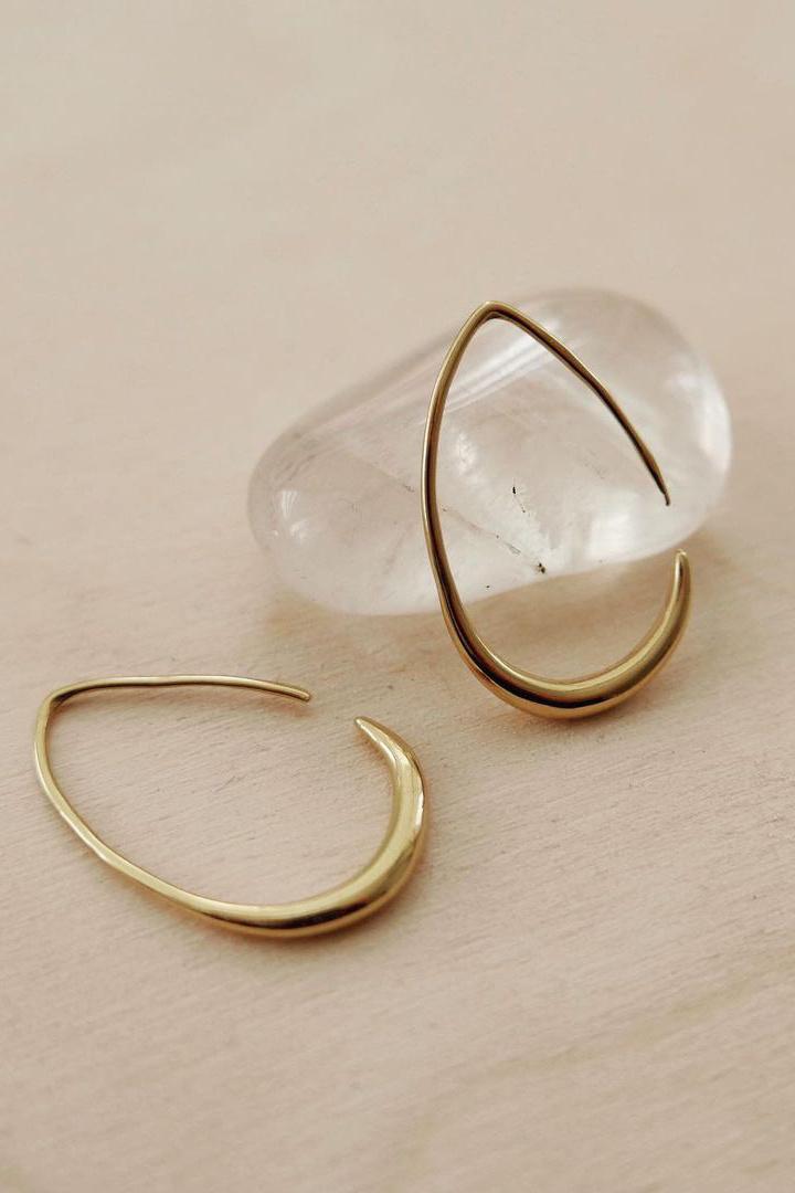 Teardrop Earrings - Gold-5