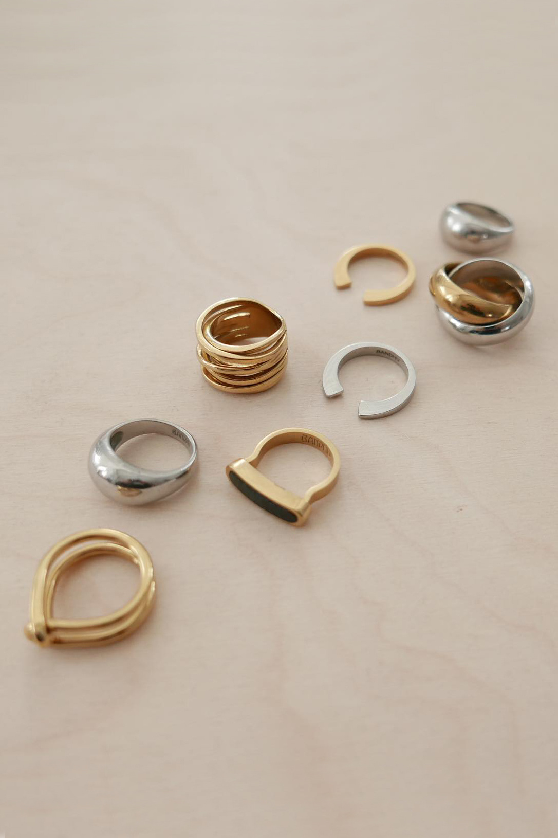 Wire Ring - Gold-4