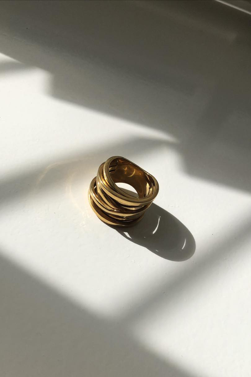 Coil Ring - Gold-7