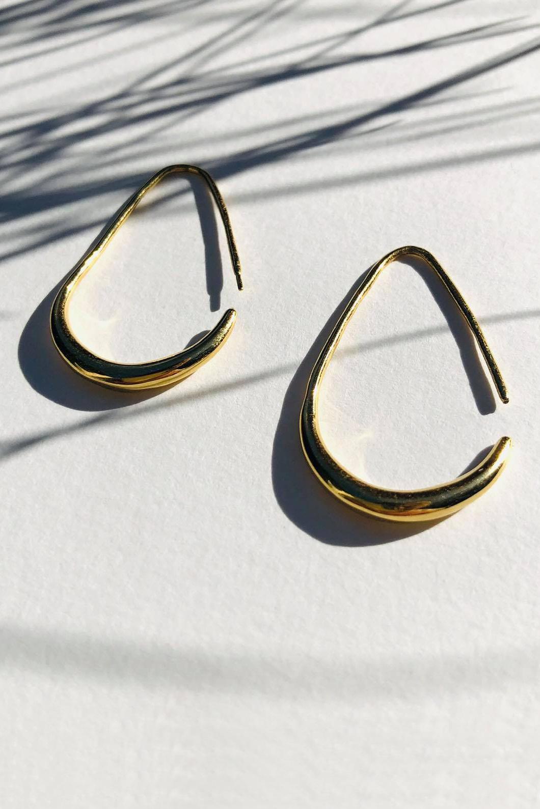 Teardrop Earrings - Gold-6
