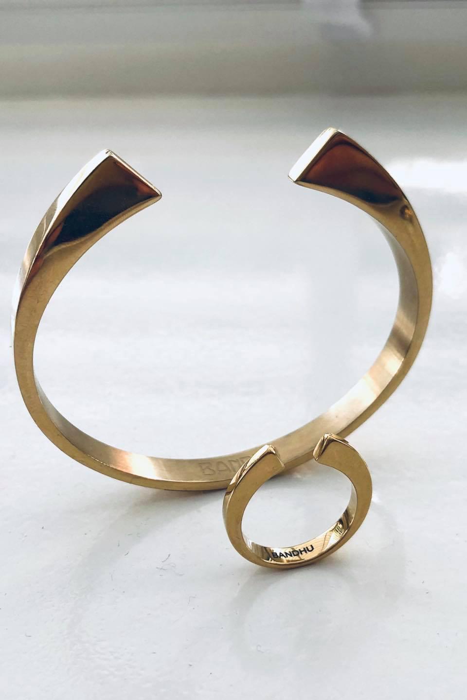 Vinyasa Ring - Goud-7