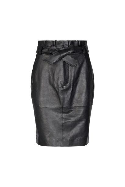 Phoebe Leather Skirt - Black