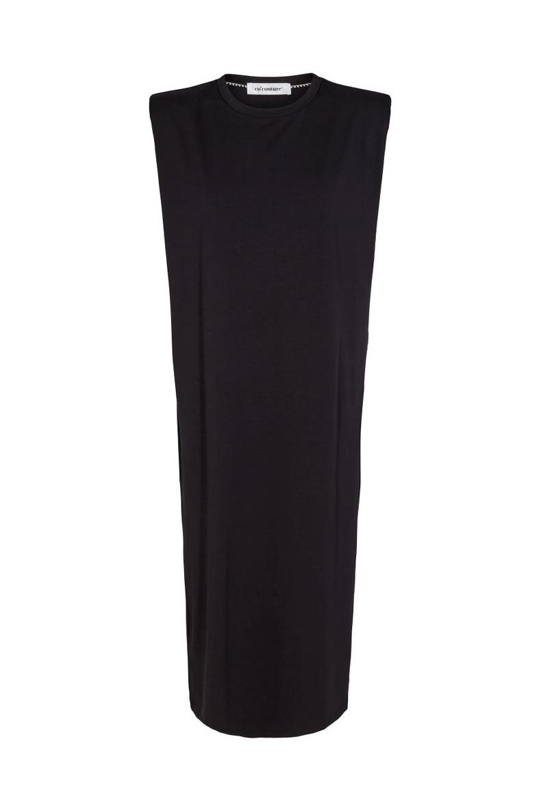 Eduarda Ankle Tee Dress - Black-1