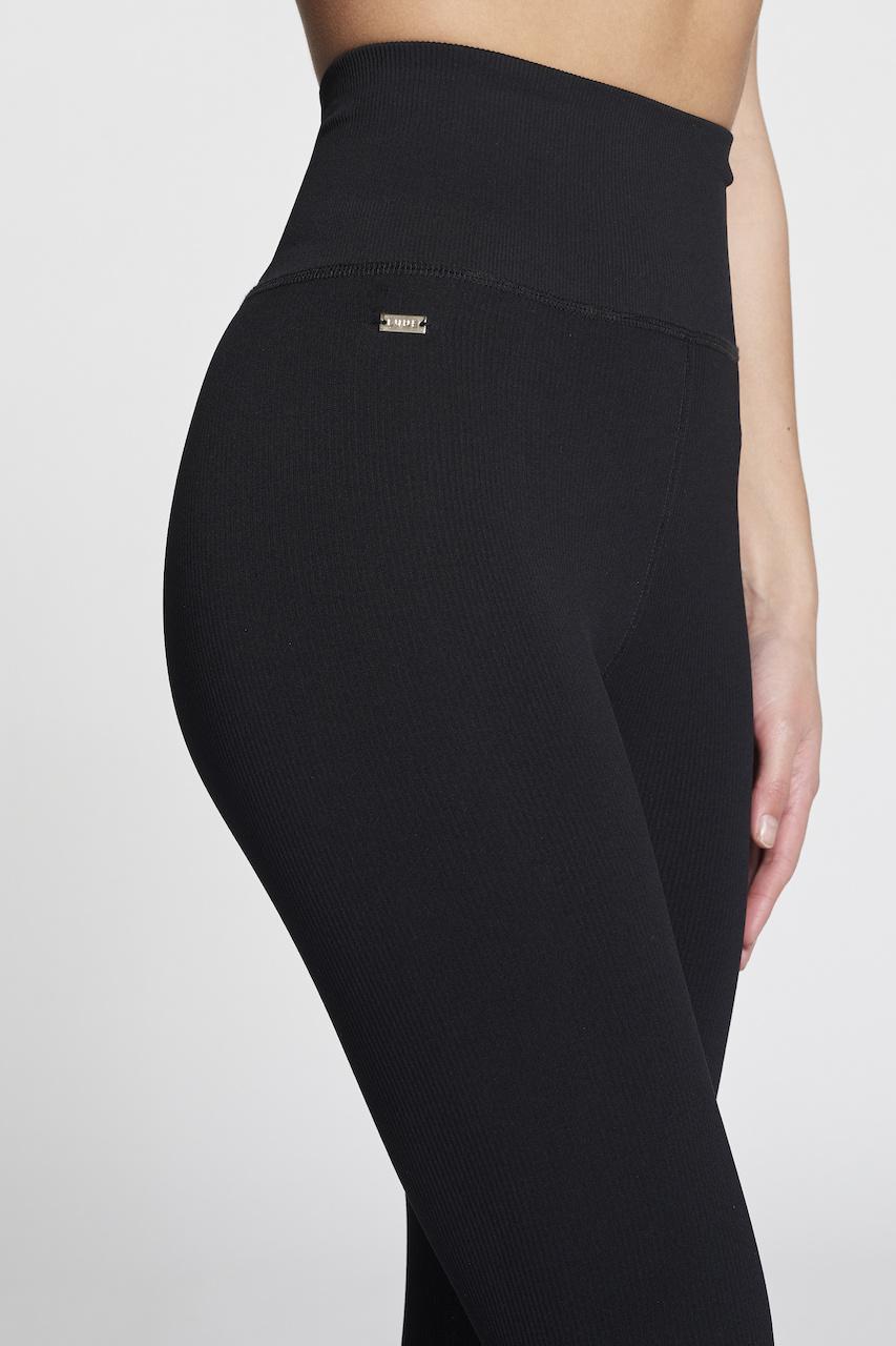 Luna Rib Legging - Black-3