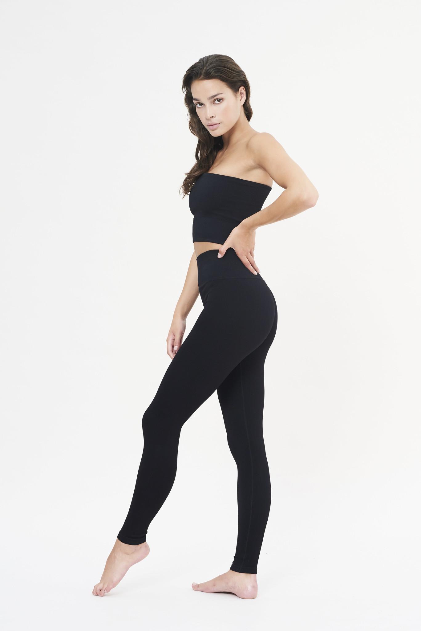 Luna Rib Legging - Black-5