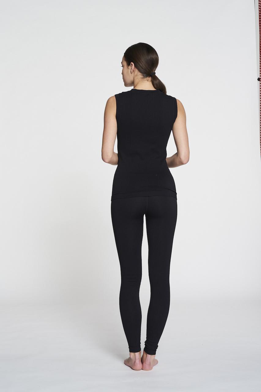 Luna Rib Legging - Black-7