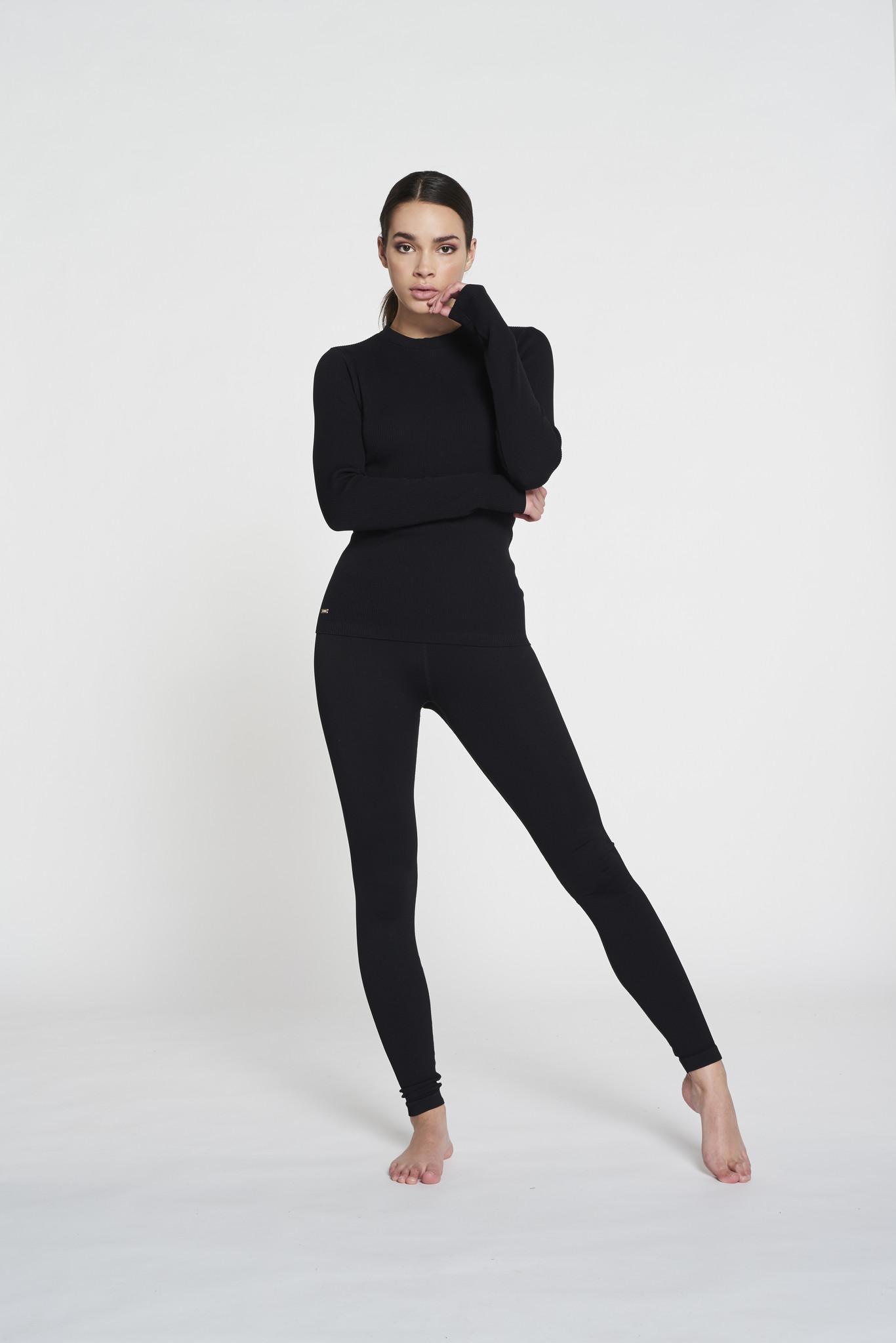 Luna Rib Legging - Black-8