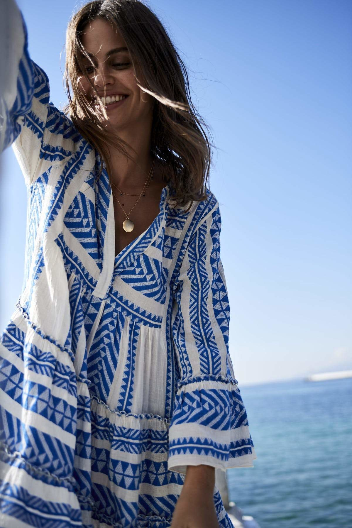Short Dress Ella - Blue-2