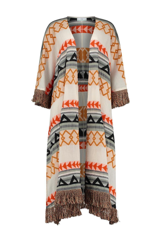 Kimono Long Oslo - Khaki-1
