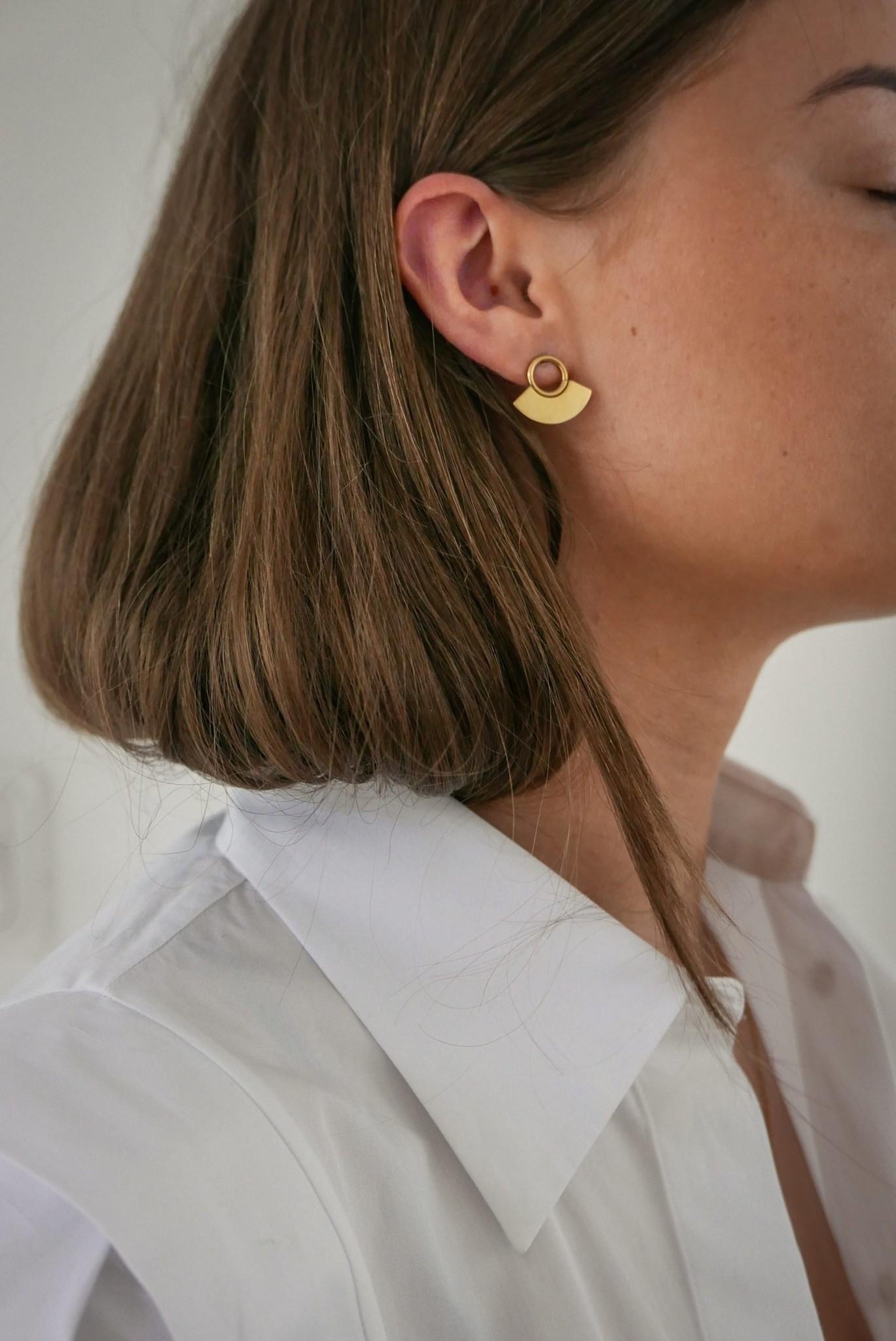 Moonsun Earrings - Gold-2