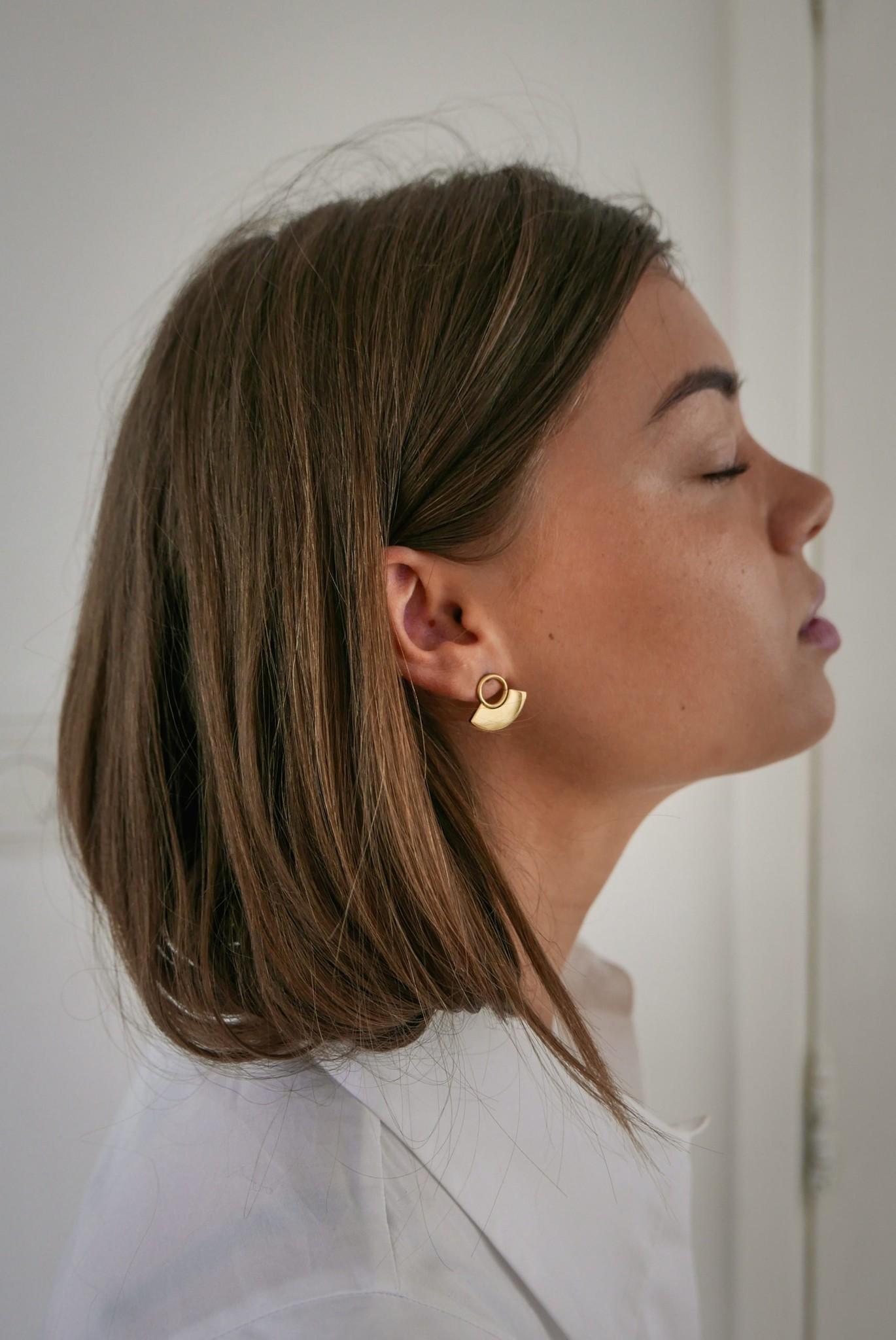 Moonsun Earrings - Gold-4