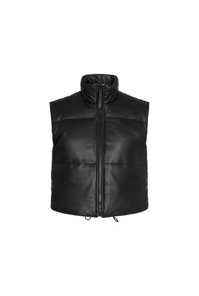 Mountain Leather Vest - Black