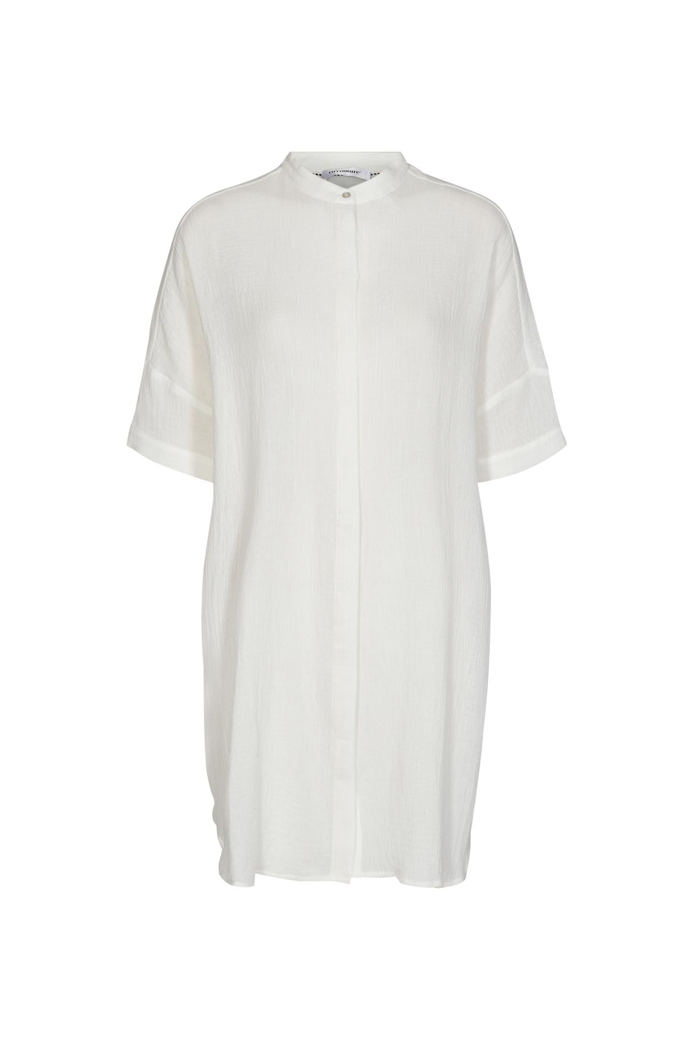 Crepe Tunic Shirt - Off White-1
