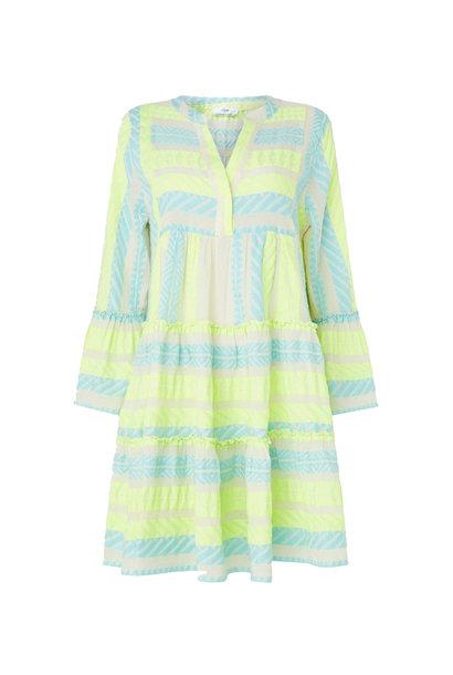 Short Dress Neon Ella - Neon Lime Blue