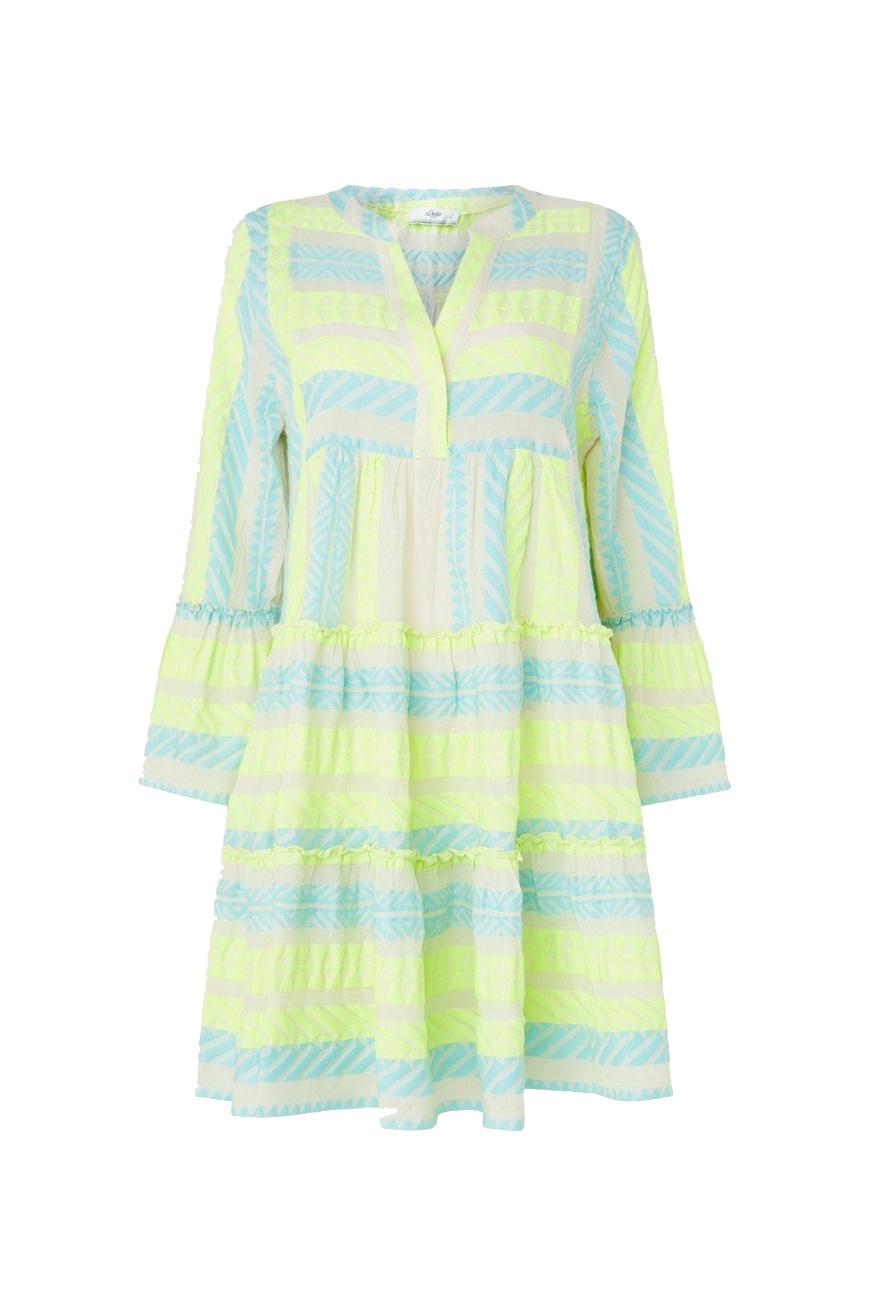 Short Dress Neon Ella - Neon Lime Blue-1