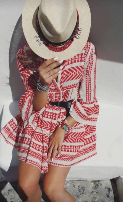 Short Dress Ella - Red-5
