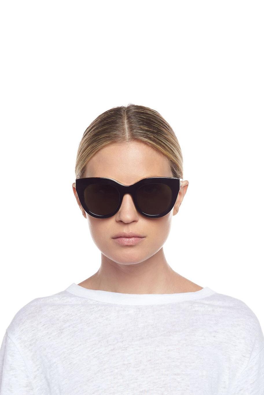 Air Heart Sunglasses - Black-2
