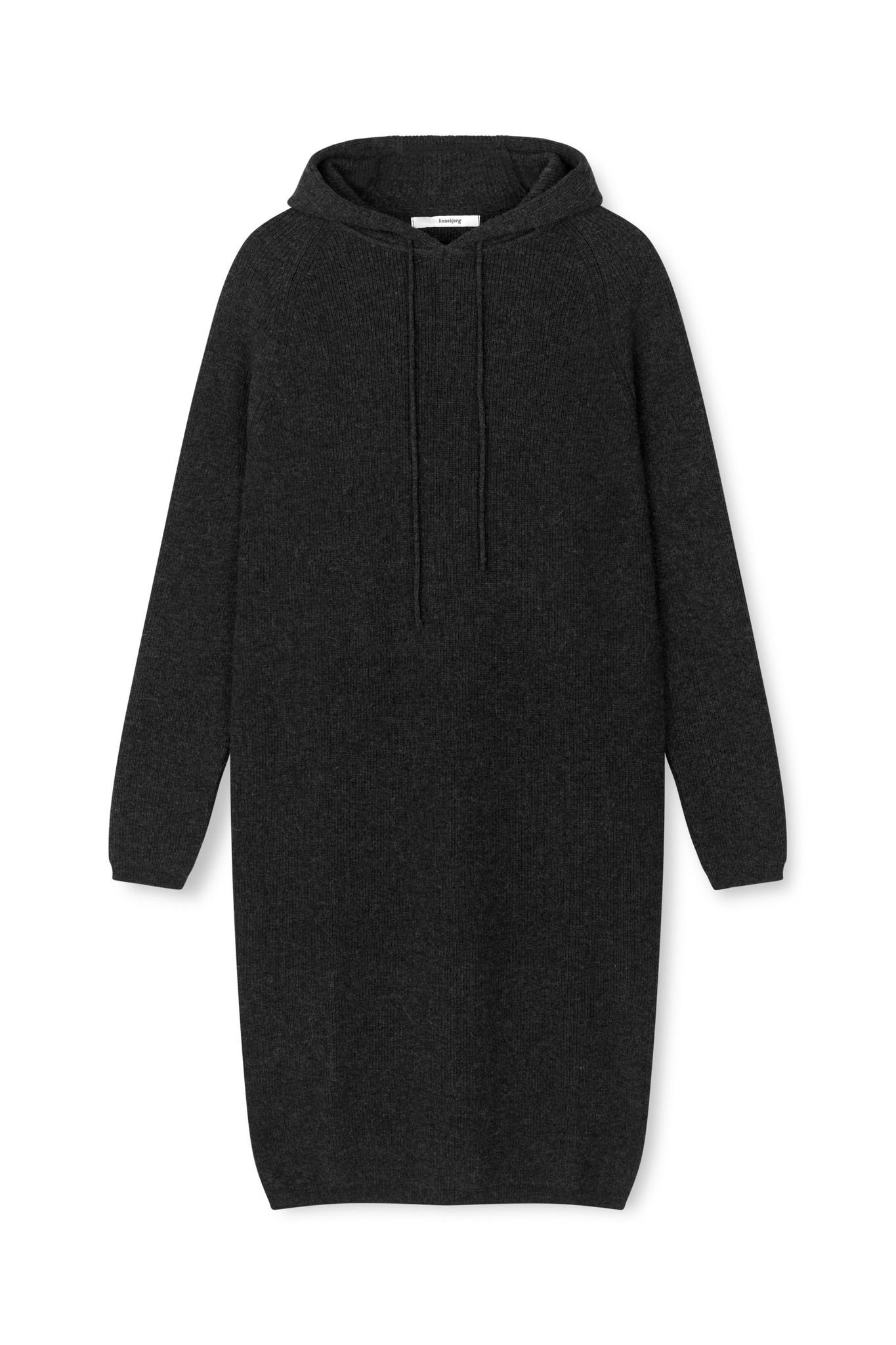 Torino Hoodie Dress - Anthracite-1