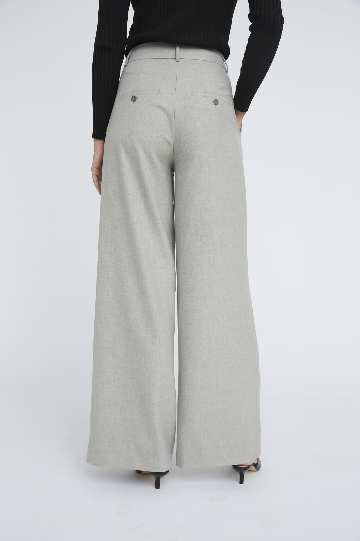 Karen 555 Wide Trouser - Misty Grey-5