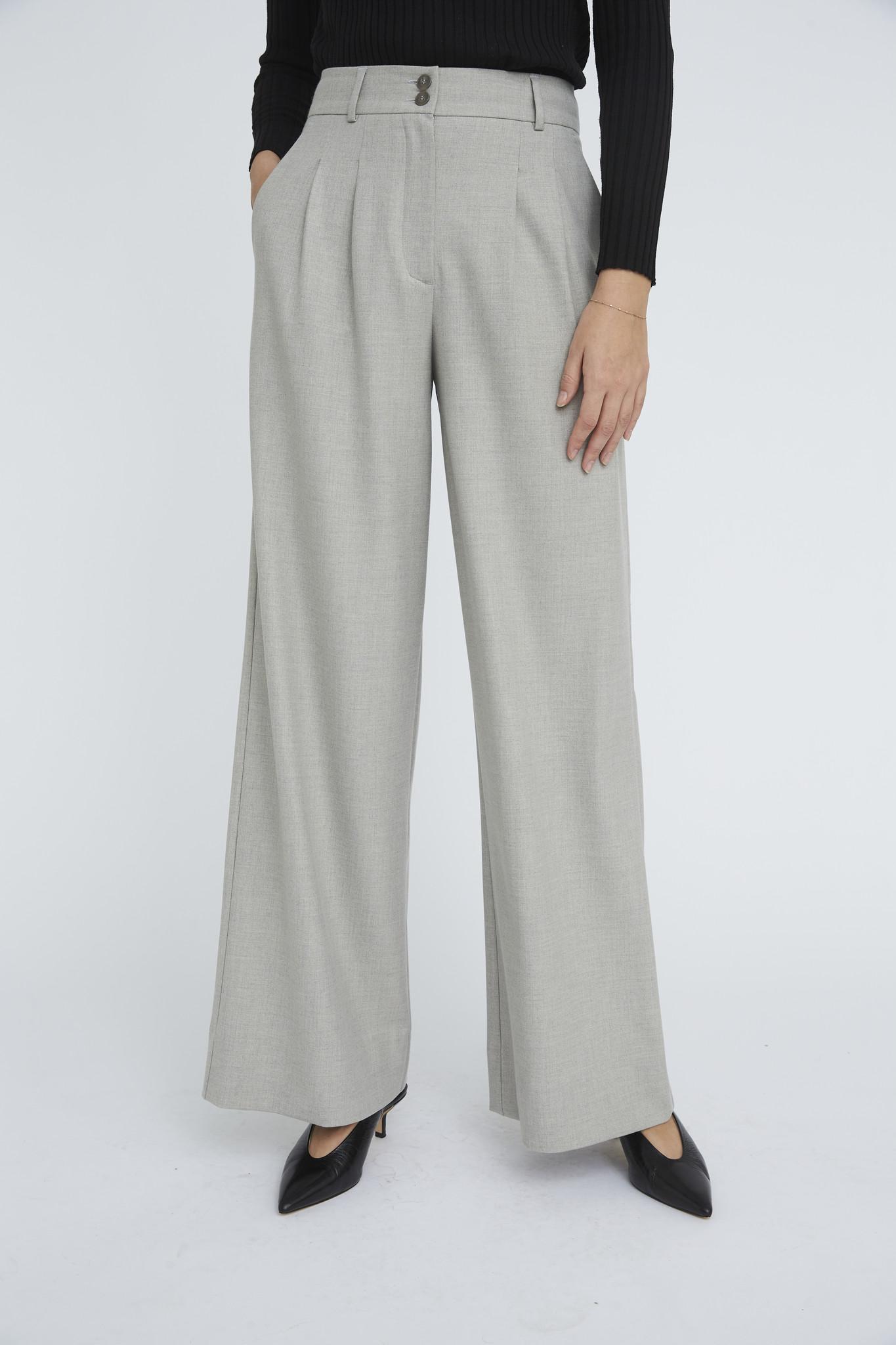 Karen 555 Wide Trouser - Misty Grey-3