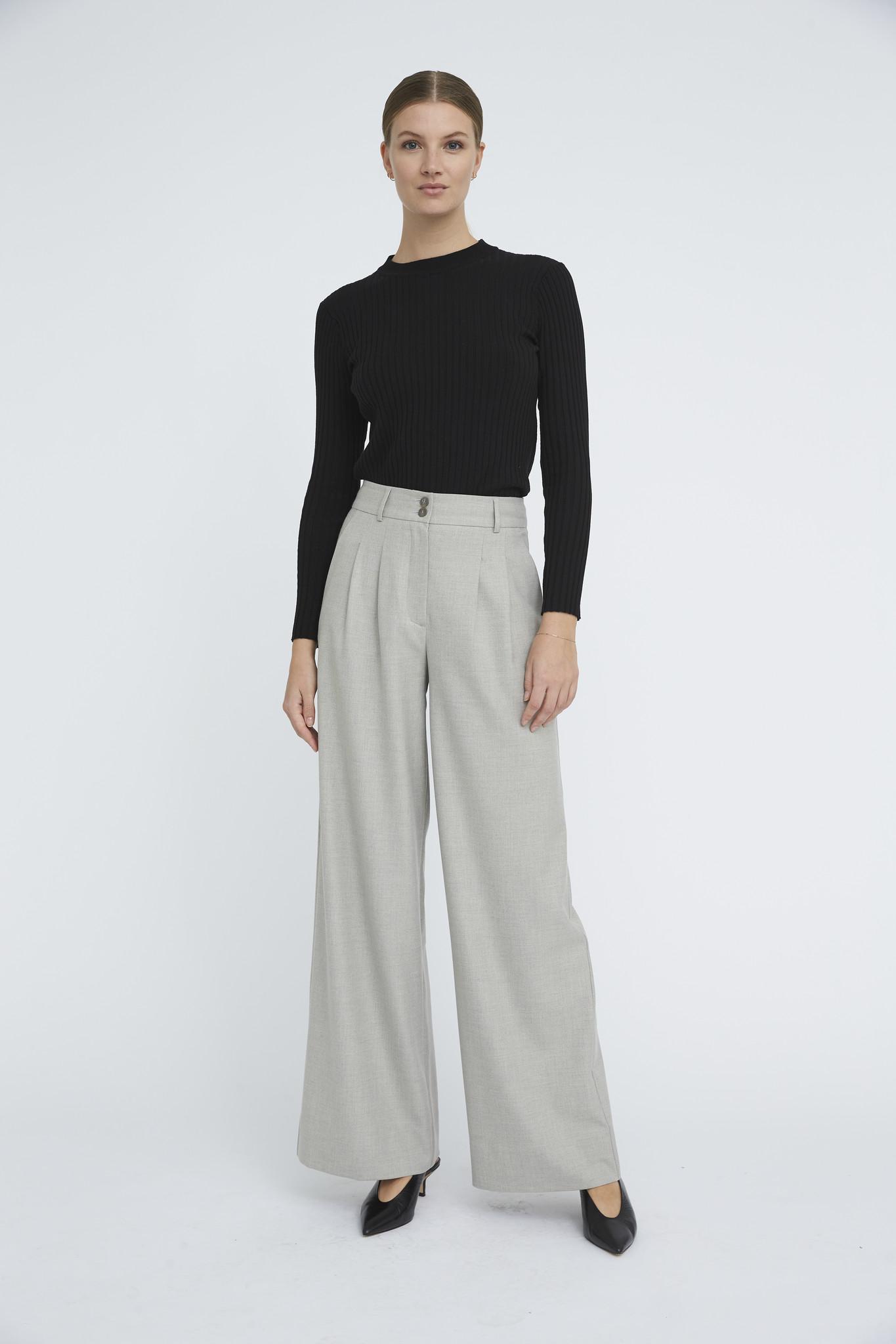 Karen 555 Wide Trouser - Misty Grey-2