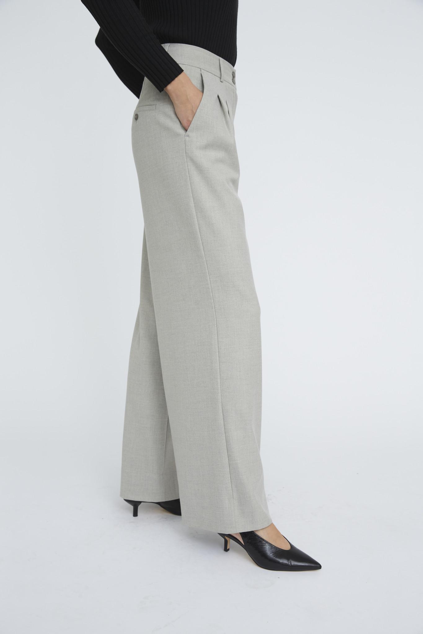 Karen 555 Wide Trouser - Misty Grey-4