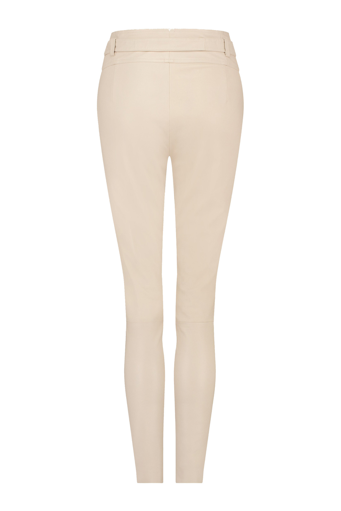 Ann Leather Pant - White Sand-2