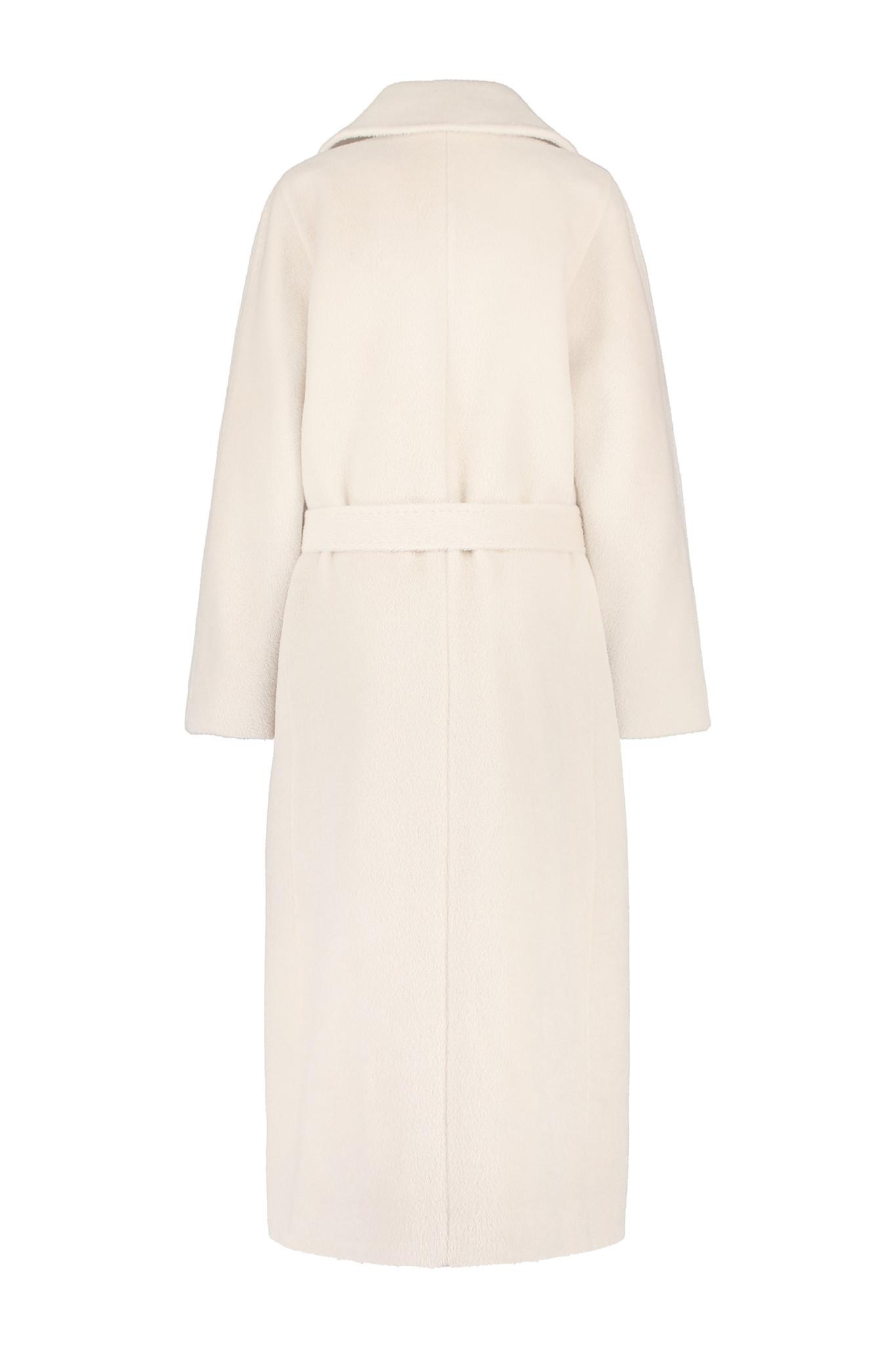 Elsa Coat with Belt - White Sand-3