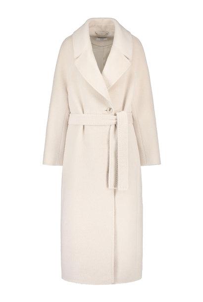 Elsa Coat with Belt - White Sand